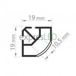 Hliníkový profil TAN-C5, 19x19mm