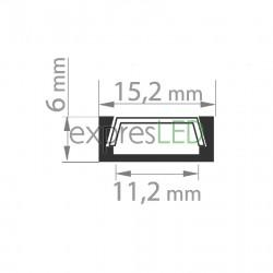 Hliníkový profil MICRO, neeloxovaný (surový hliník) 15,2x6mm
