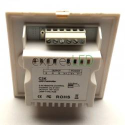 RGB ovládač na stenu s kolieskom