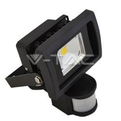LED reflektor 10W so senzorom, studená biela
